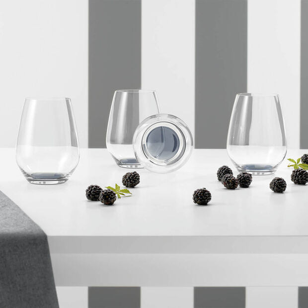 Colourful Life Cosy Grey cocktail/water glass set 4 pieces, , large