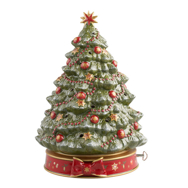 Toy's Delight Christmas tree with music box, , large