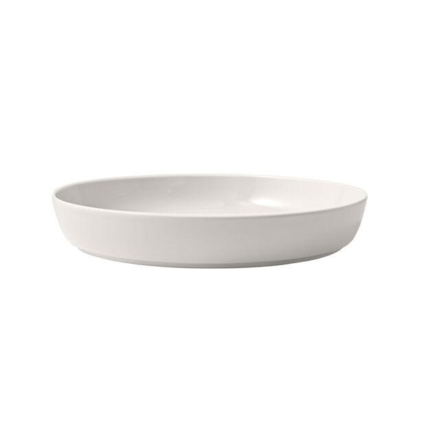 Iconic flat bowl, white, 24 x 4 cm, 1.1 l, , large