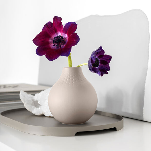 Manufacture Collier vase, 11 x 12 cm, Perle, Beige, , large