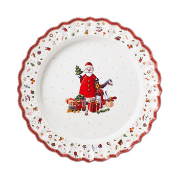 Toy's Delight serving plate, multicoloured/red/white, 45 cm