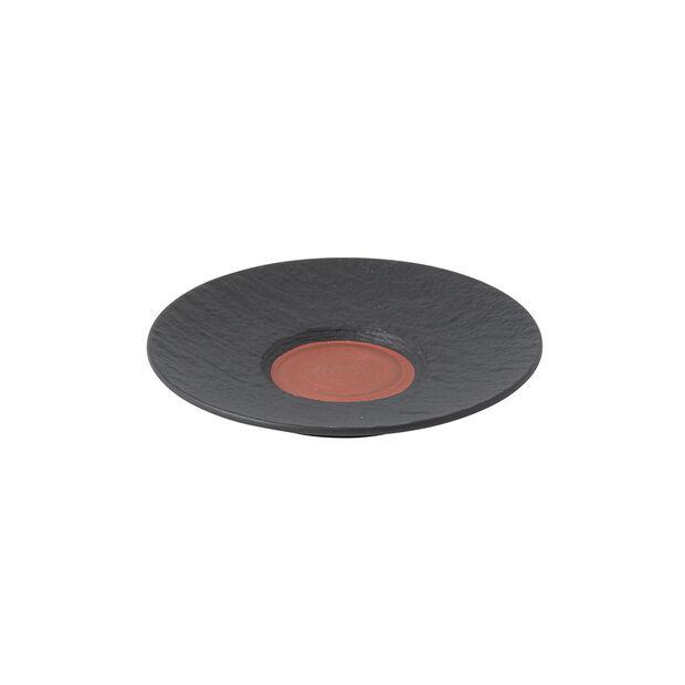 Manufacture Rock Glow café au lait cup saucer, copper/black, 17 x 17 x 2 cm, , large