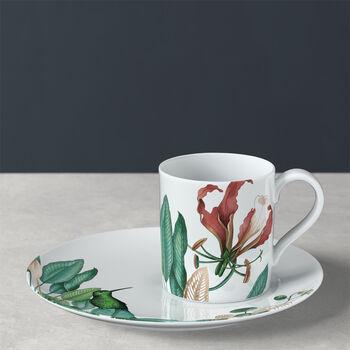 Avarua coffee cup & saucer, 210 ml, white/multicoloured
