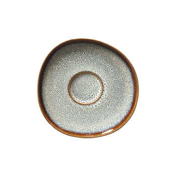 Lave beige coffee cup saucer, 15.5 cm