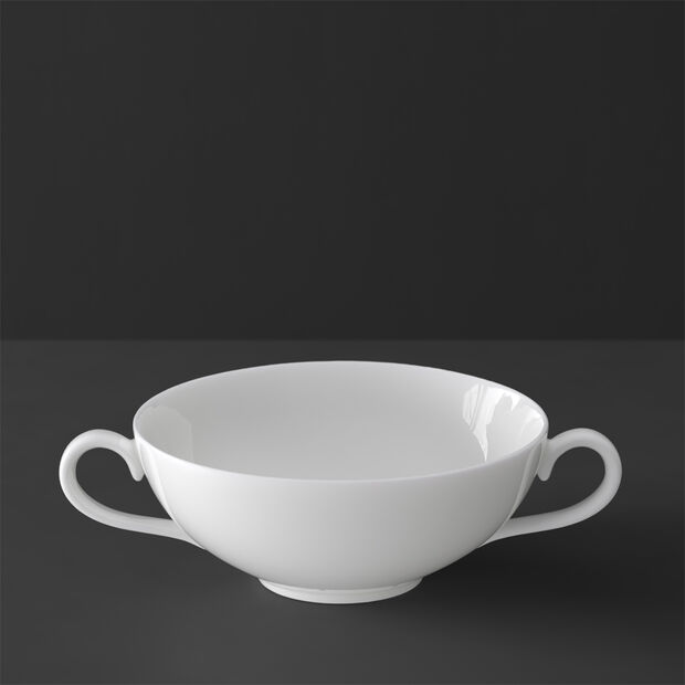 White Pearl soup cup, , large