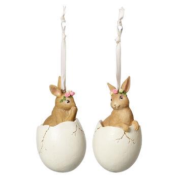 Spring Fantasy Accessories Bunny in egg Set 2 5,9x5,9x10,8cm