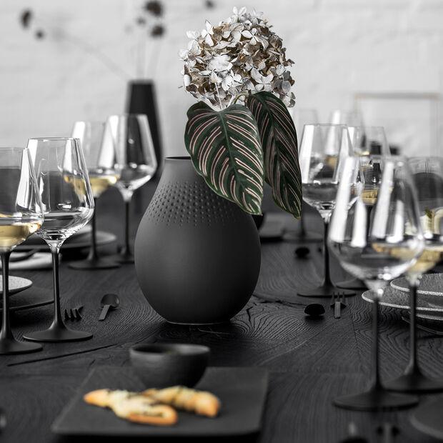 Manufacture Collier noir Vase Perle tall 16x16x20cm, , large