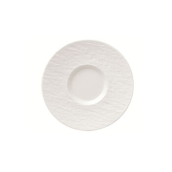 Manufacture Rock Blanc coffee cup saucer, white, 15.5 x 15.5 x 2 cm