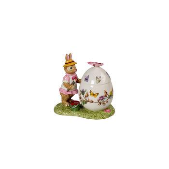 Bunny Tales Easter egg jar Anna, 11 x 6.5 x 10 cm, multicoloured