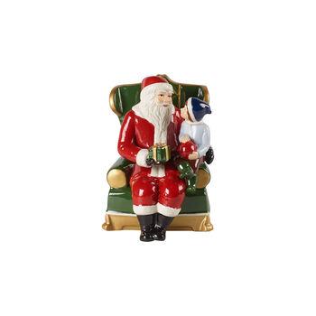 Christmas Toy's Santa in armchair, multicoloured, 10 x 10 x 15 cm
