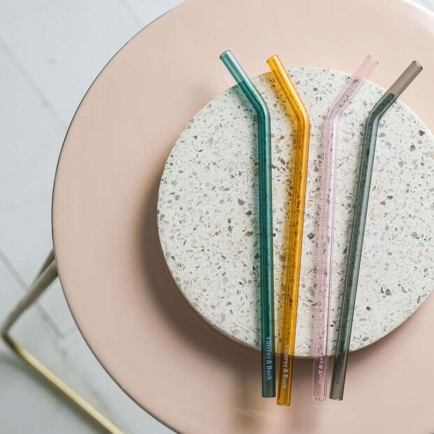 like.by Villeroy & Boch Artesano Hot&Cold Beverages Glass straw set 5pcs., , large