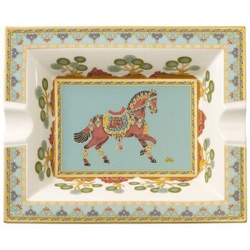 Samarkand Aquamarin ashtray 17 x 21 cm
