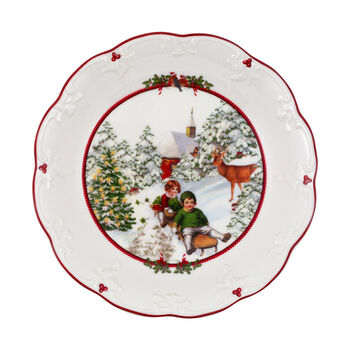 Toy's Fantasy large bowl sleigh ride, multicoloured/red/white, 24.5 x 24.5 x 4 cm