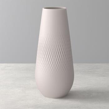 Manufacture Collier vase, 11.5 x 26 cm, Carré, Beige