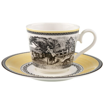 Audun Ferme Breakfast cup & saucer 2pcs