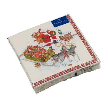Winter Specials lunch napkin Santa Claus, multicoloured, 20 pieces, 33 x 33 cm