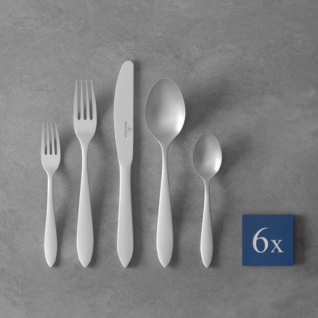Arthur brushed cutlery set 30 pieces, , large