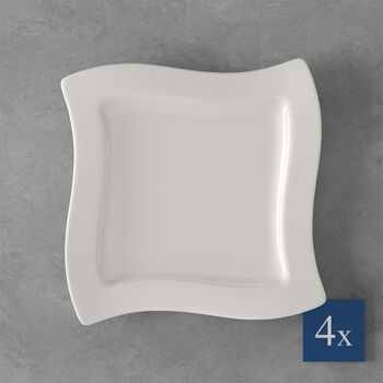 NewWave breakfast plate, square, 4 pieces