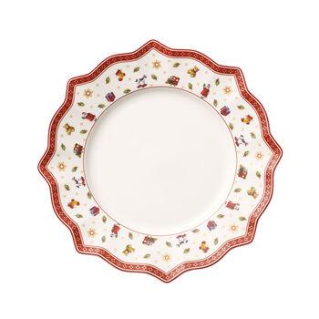 Toy's Delight white dinner plate