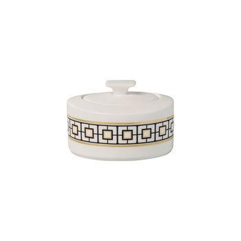MetroChic sugar bowl, 330 ml, white/black/gold