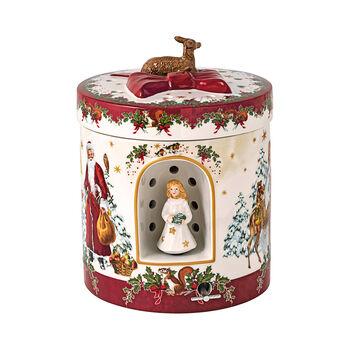 Christmas Toys large round gift box angel, 17 x 17 x 21.5 cm