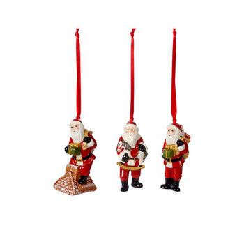 Nostalgic Ornaments ornament set Santa Claus, multicoloured, 3 pieces, 9 cm