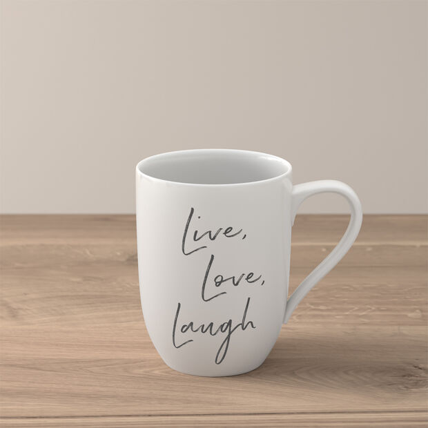 "Statement mug ""Live Love Laugh"", , large"
