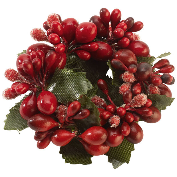 Winter Collage Accessories napkin ring red berries, red, 6 cm, , large