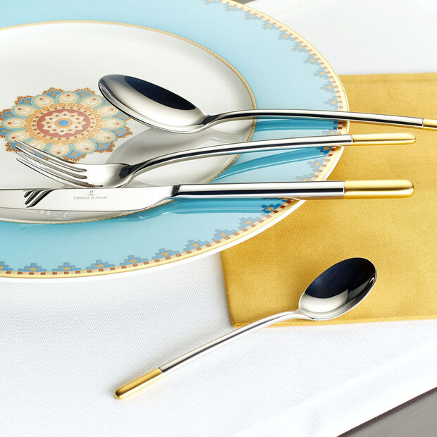 Ella partially gold-plated table cutlery 30 pieces 42 x 27 x 5 cm, , large