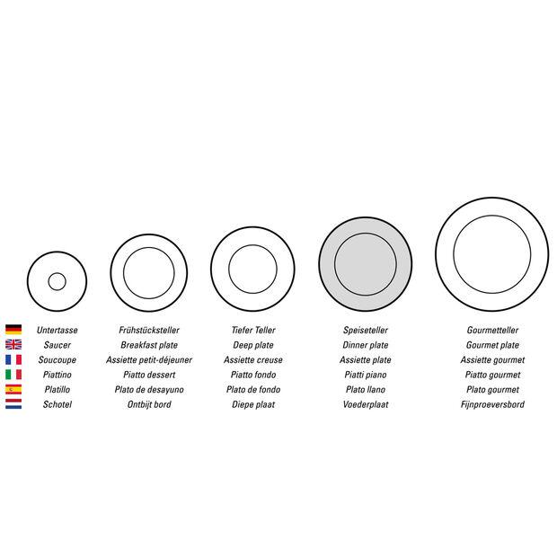 Design Naif dinner plate Huntsman, , large