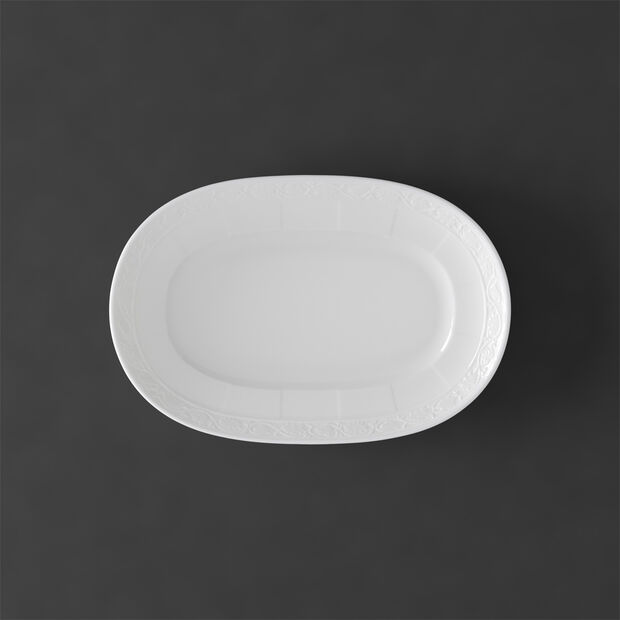 White Pearl Pickle Dish/Saucer sauceboat 22cm, , large