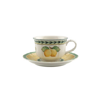 French Garden Fleurence tea cup and saucer 2 pieces