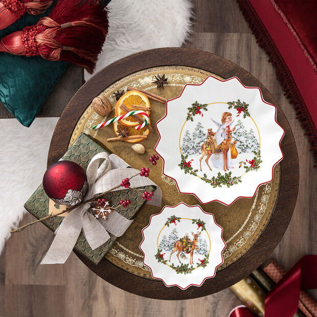 Toy's Fantasy large bowl angel, multicoloured/red/white, 24 x 24 x 4.5 cm, , large