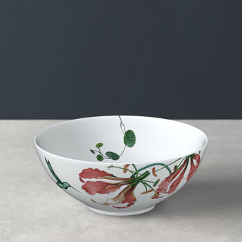 Avarua bowl, 600 ml, white/multicoloured