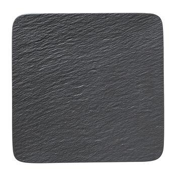 Manufacture Rock square serving/gourmet plate, black/grey, 32.5 x 32.5 x 1.5 cm
