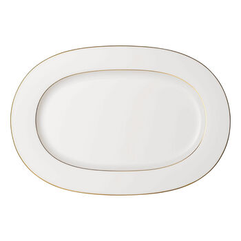 Anmut Gold oval plate, 41 cm, white/gold
