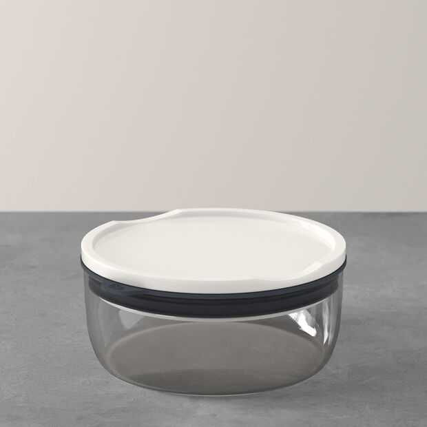 ToGo&ToStay lunch box, 13 x 6 cm, round, grey, , large