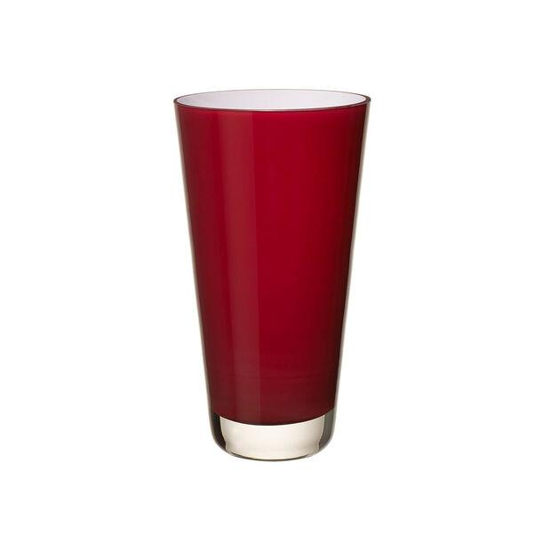 Verso Vase small deep cherry 250mm, , large