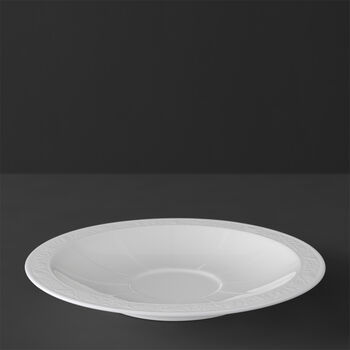 White Pearl Saucer breakfast/soup cup 18cm