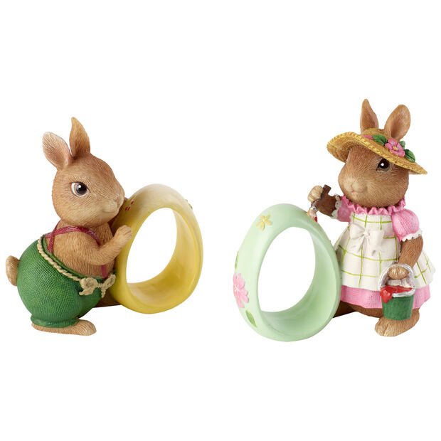Spring Fantasy Accessories Napkin ring Anna Paul S2 8,3x5x8,9cm, , large