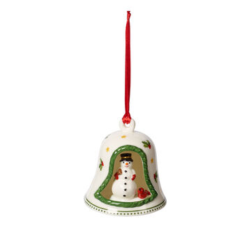 My Christmas Tree bell with snowman, multicoloured, 6 x 6 x 7 cm