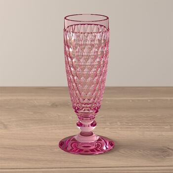 Boston Coloured Champagne glass Pink