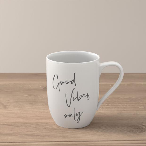 "Statement mug ""Good vibes only"", , large"