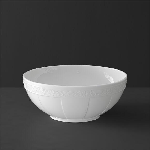 White Pearl large round bowl, , large
