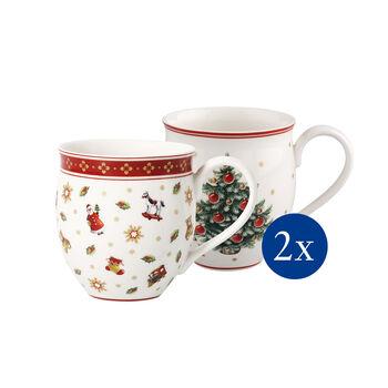 Toy's Delight Christmas tree coffee mug 4-piece set