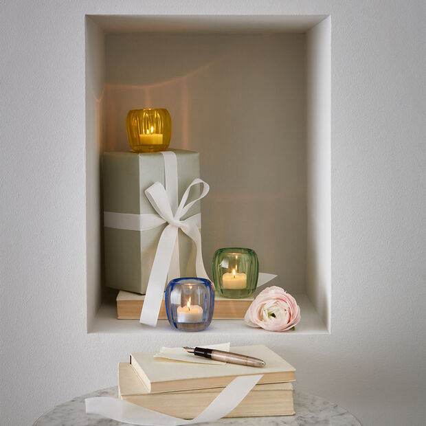 Coloured DeLight small tea light holder Winter Sky, , large