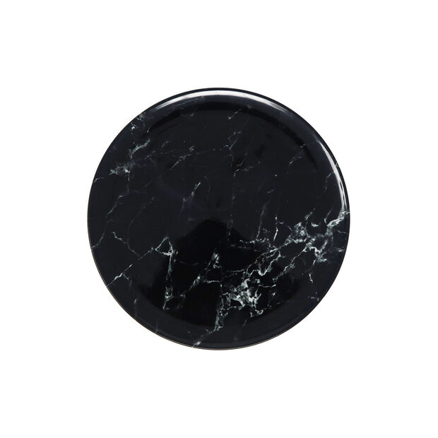 Marmory breakfast plate black 21 x 21 x 1,5cm, , large
