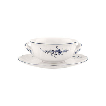 Old Luxembourg soup cup set 2 pieces