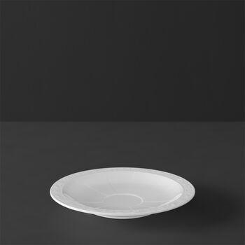 White Pearl mocha/espresso cup saucer