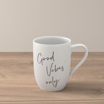"Statement mug ""Good vibes only"""